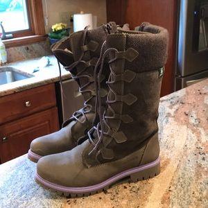 Lace up Kamik boots.